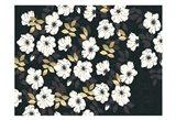 1613 Flora Noir Floral Repeat Art Print