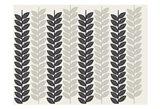 1613 Flora Noir Leaves Art Print