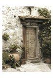 Montefioralle Door Art Print