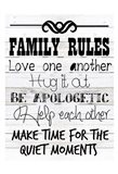 Rules Of The Family Art Print