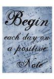Positive Note Art Print