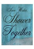 Shower Together Art Print