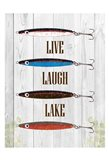 Live Laugh Lake Art Print