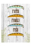 Faith Family Fish Art Print
