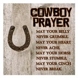 Cowboy Prayer Art Print