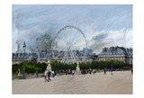 Paris Louvre Ferris Wheel Art Print
