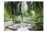 Monets Tranquil Gardens Art Print