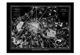 Paris Map 2 BW Art Print
