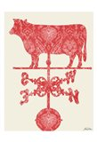 Weather Vane Cow Art Print