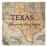 Texas My Story Art Print