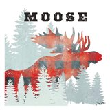Moose Plaid Art Print