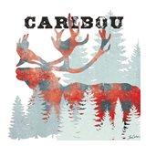 Plaid Caribou Art Print