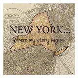 New York Story Art Print
