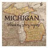 Story Michigan Art Print