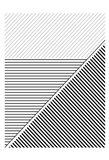 BW Geo Lines 2 Art Print