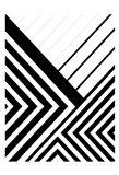 BW Geo Lines 3 Art Print