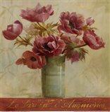 Jardin d'Anemones Art Print