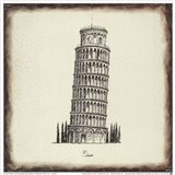 Pisa Tile Art Print