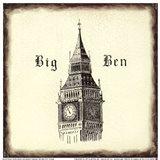 Big Ben Tile Art Print