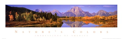 Nature's Colors - Grand Teton Range Art Print by Unknown