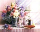 Teapot and Iris Art Print