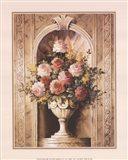 Assorted Roses in Urn Art Print