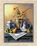 Country Tea Set with Yellow Lilies Art Print