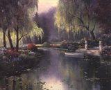 Willow Park Lake Art Print