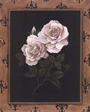 Rose Fleur De Lis Art Print