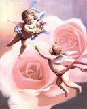 Cherubs' Rose Art Print