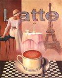 Latte - Paris Art Print