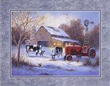Winter Chores Art Print