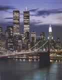 Wtc With Brooklyn Bridge Art Print