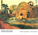 Yellow Haystacks-the Harvest Art Print