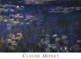 Waterlilies: Green Reflections I Art Print