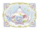 Pansy Teapot Art Print