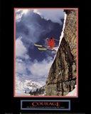 Courage-Skier Art Print