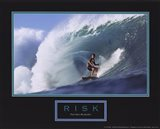 Risk-Surfer Art Print