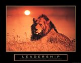 Leadership-Lion Art Print