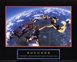 Success - Skydivers Art Print