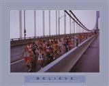 Believe - Marathon Runners Art Print