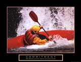 Commitment - Kayak Art Print