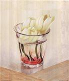 White Flowers In Glass Art Print