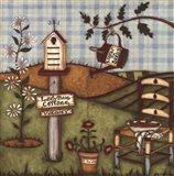 Ladybug Cottage Art Print