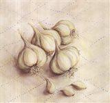 Garlic - square Art Print