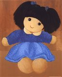 Doll With Black Hair Pigtails Art Print