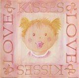 Loves Kisses - Girl Art Print