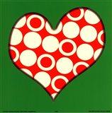 Red Circled Heart Art Print