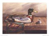 Mallard Decoy Art Print