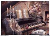 Sonata By Firelight (Mini) Art Print